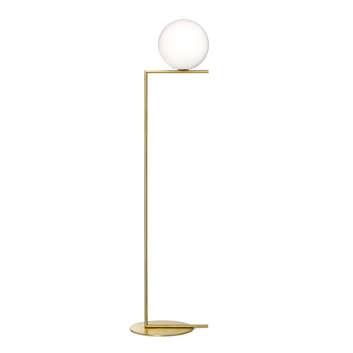 IC F2 BRO floor lamp by Flos in brushed brass