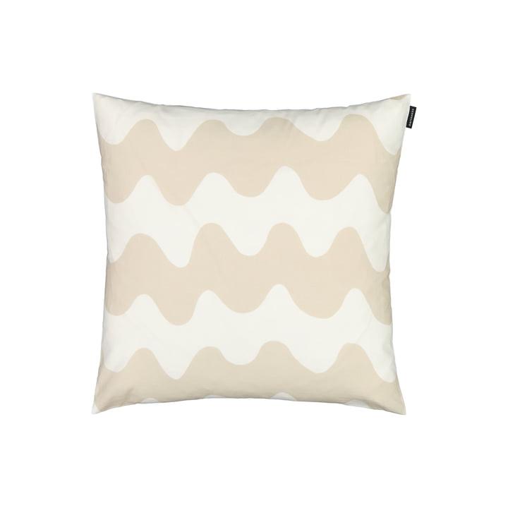 The Pikkulokki cushion cover by Marimekko in white / beige