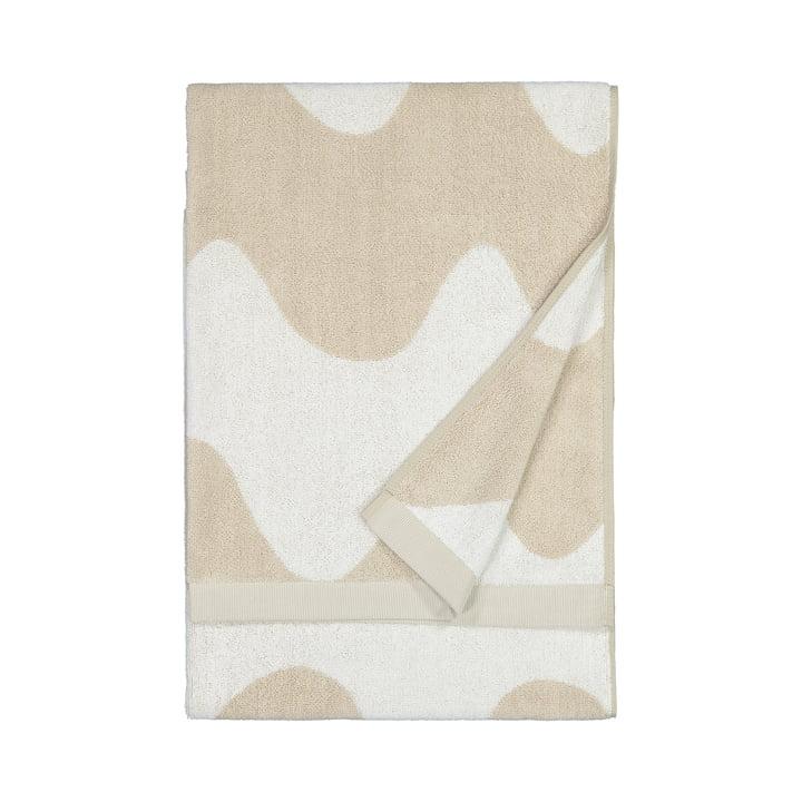 The Lokki bath towel from Marimekko in beige / white