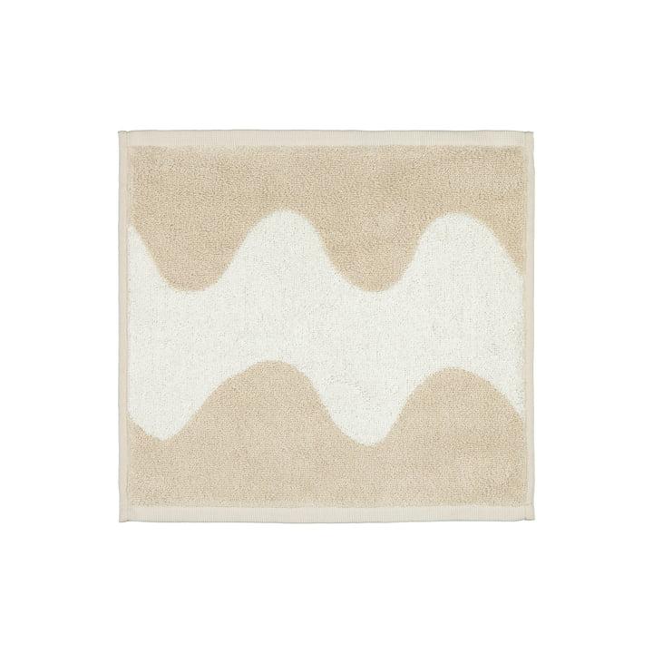 The Lokki mini towel from Marimekko in beige / white