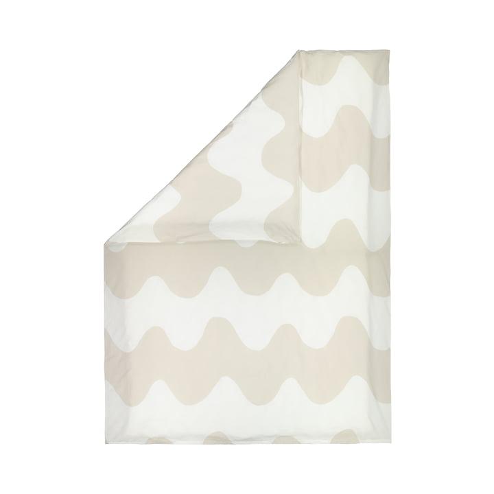 The Lokki duvet cover from Marimekko in white / beige