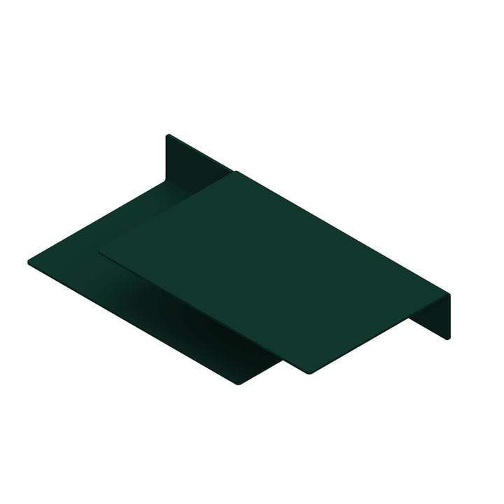 The Float Shelf wall shelf from New Tendency in dark green