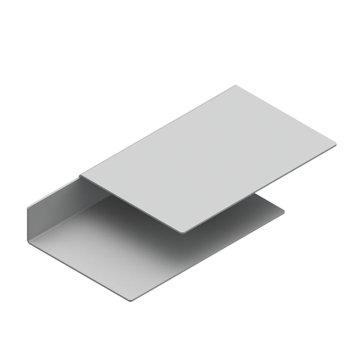 The Float Shelf wall shelf from New Tendency in light grey