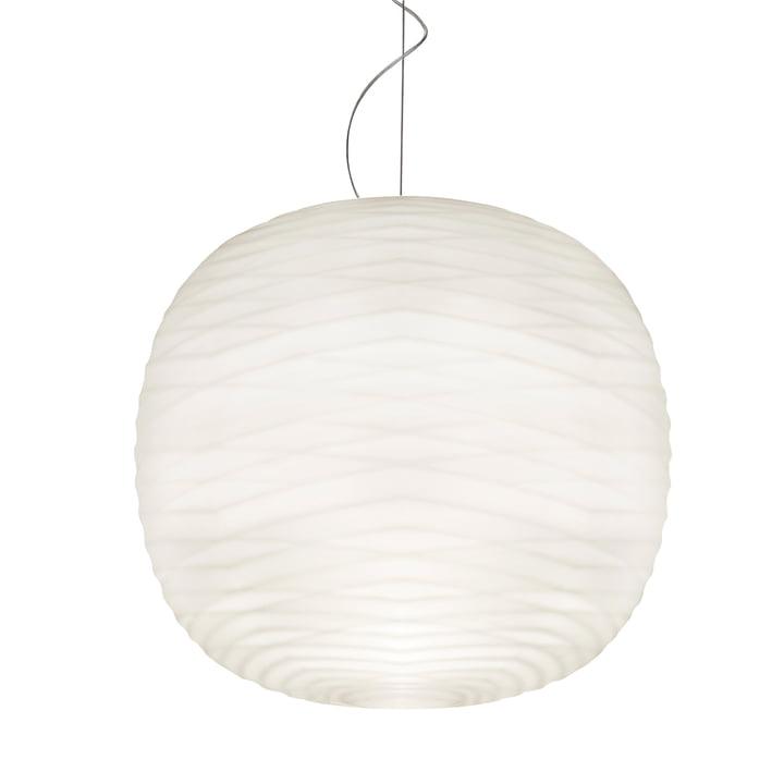Gem pendant lamp E27 by Foscarini in white