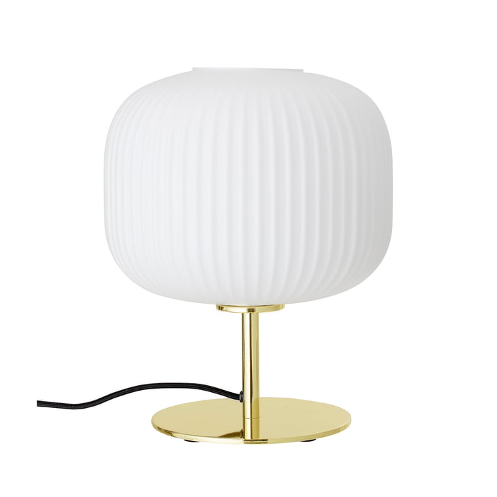 The table lamp on foot from Bloomingville in gold / white