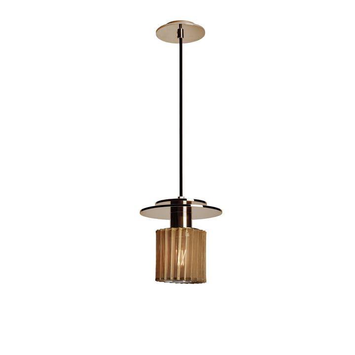 The In the Sun pendant light by DCW in mesh gold, Ø 190 mm