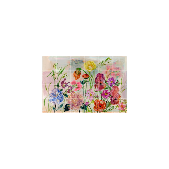 The Flowers Garden mural from IXXI , 120 x 80 cm