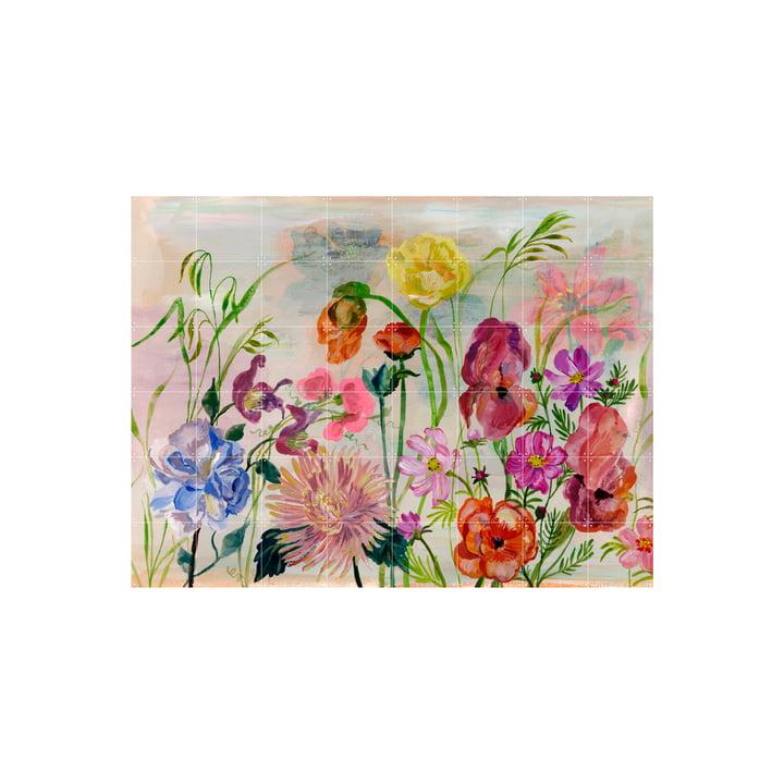 The Flowers Garden mural from IXXI , 160 x 120 cm