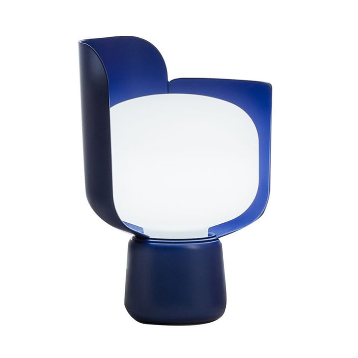 The Blom Table lamp from FontanaArte in blue