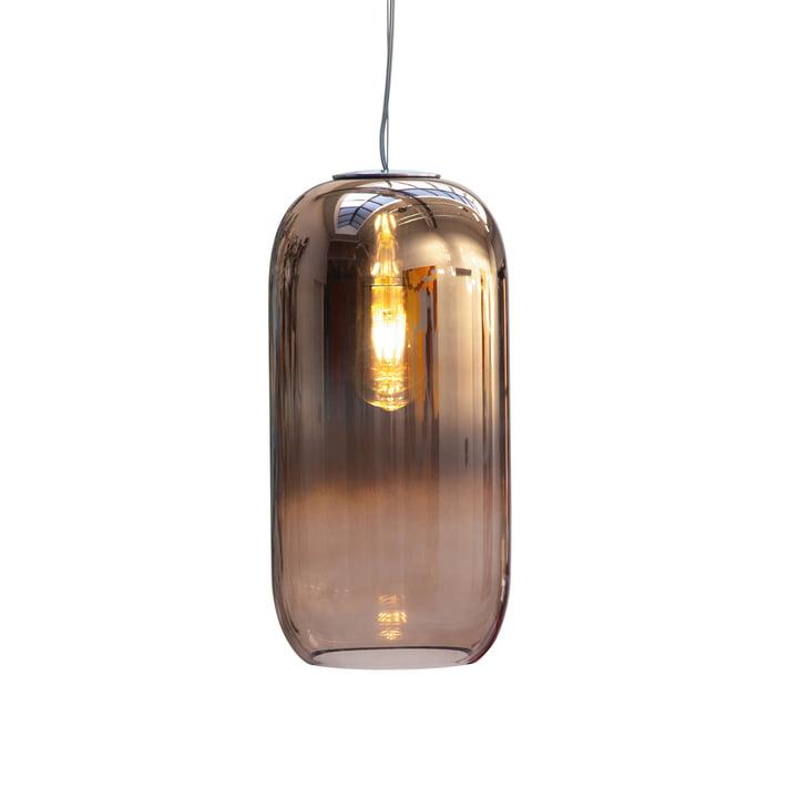 Gople pendant lamp Ø 21 x H 42 cm from Artemide in copper