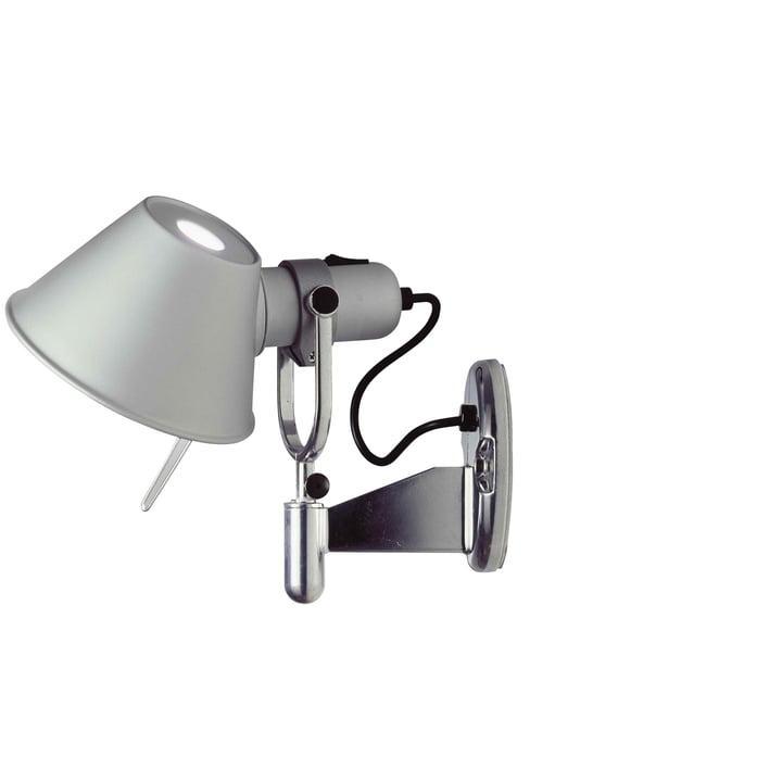 Artemide - Tolomeo Faretto wall lamp in aluminum silver