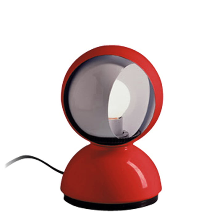 Artemide Eclisse table lamp, red