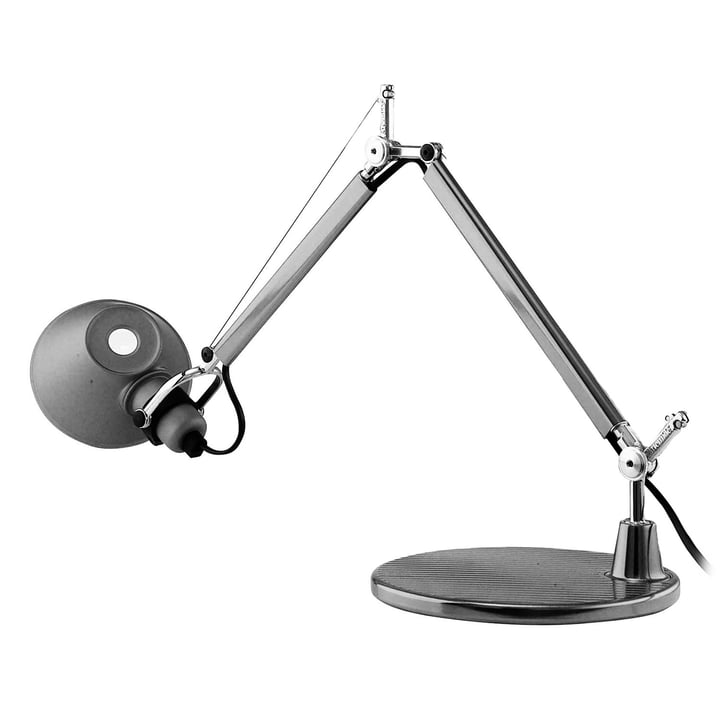 Tolomeo Micro table lamp by Artemide in aluminum silver