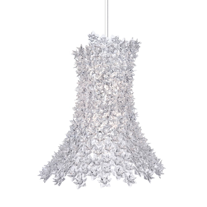 Bloom Pendant light H 70 cm from Kartell in crystal
