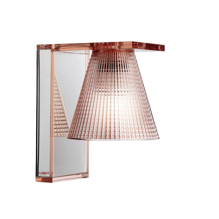 Light-Air Wall lamp from Kartell in crystal clear / pink