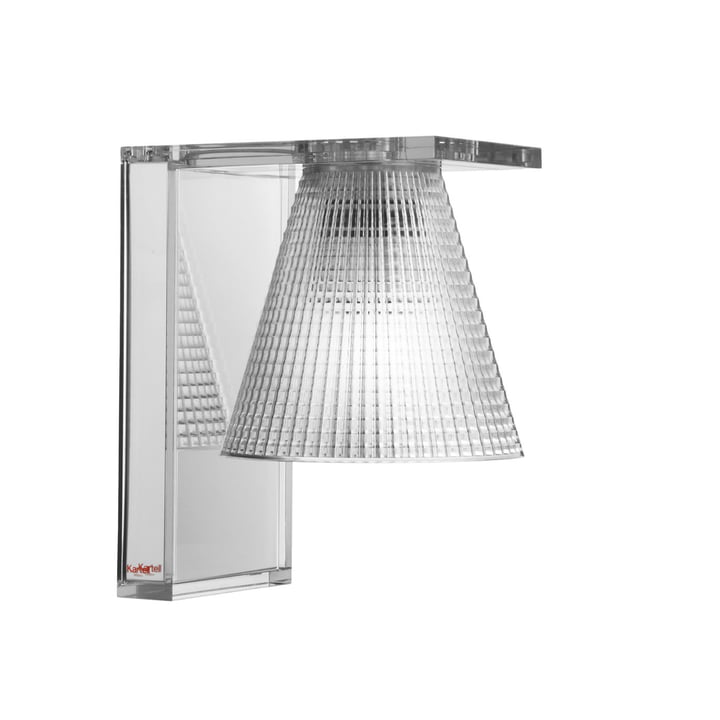 Light-Air Wall lamp from Kartell in crystal clear / clear
