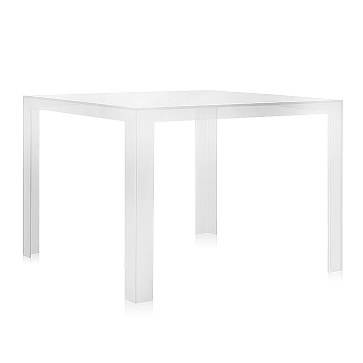 Invisible Dining table 100 x 100 cm from Kartell in crystal clear