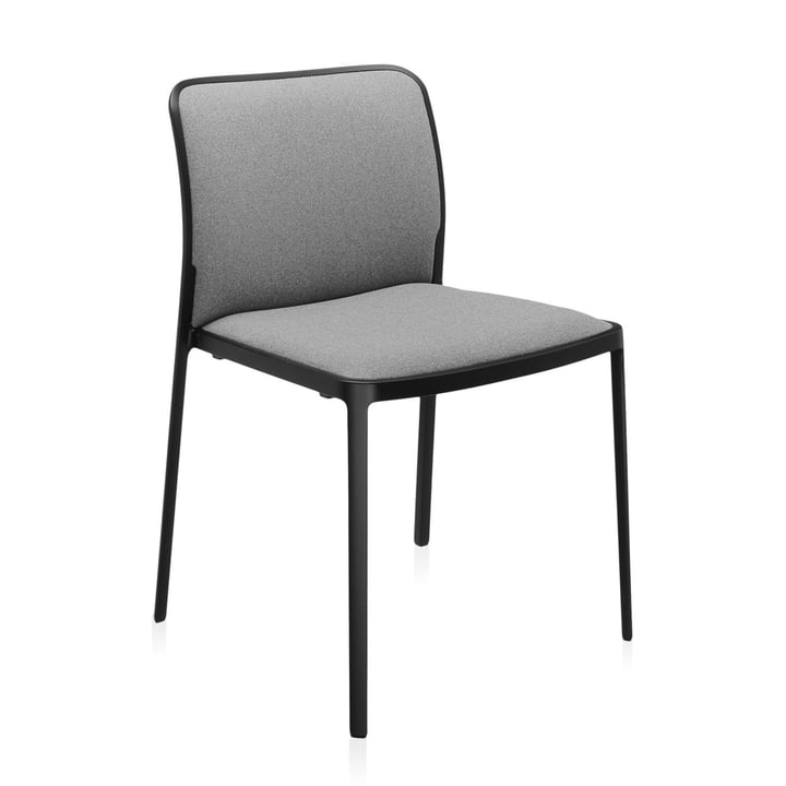Audrey Soft Chair from Kartell in black / grey
