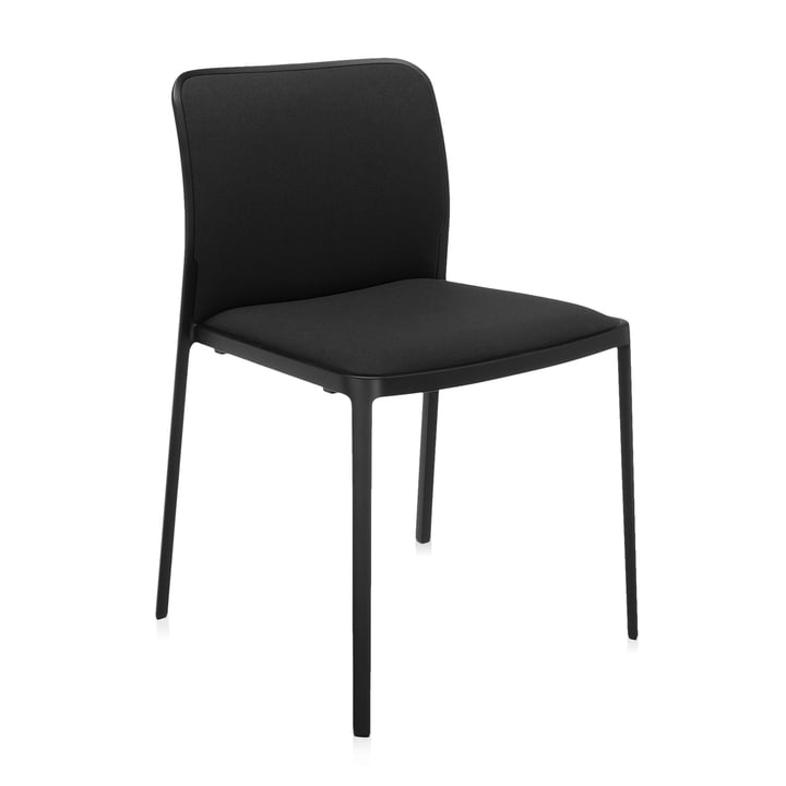 Audrey Soft Chair from Kartell in black / black