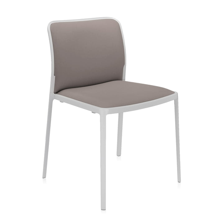 Audrey Soft Chair from Kartell in white / beige