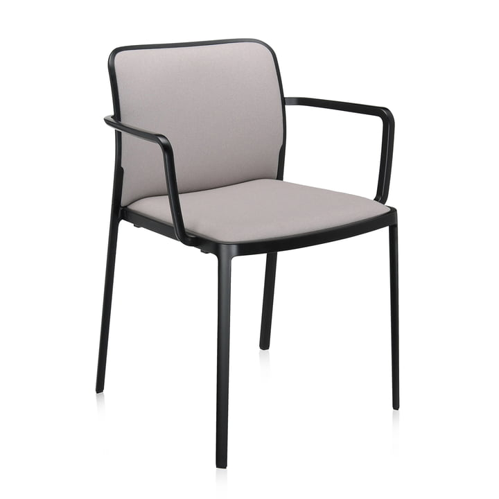Audrey Soft Armchair from Kartell in black / beige