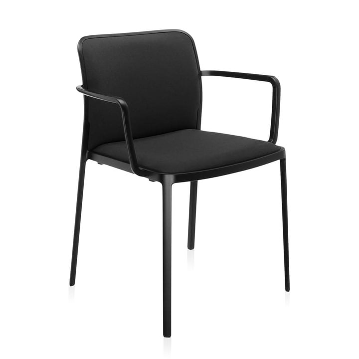 Audrey Soft Armchair from Kartell in black / black
