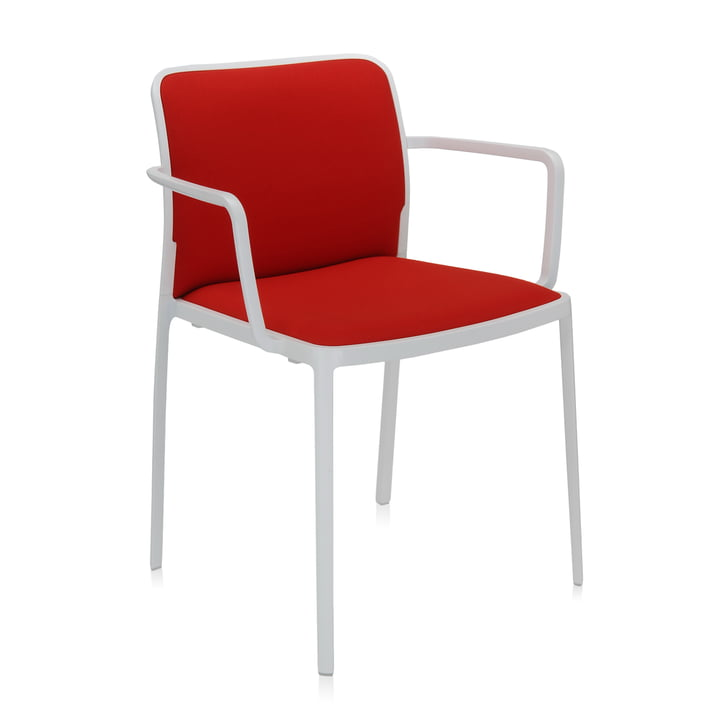 Audrey Soft Armchair from Kartell in white / red