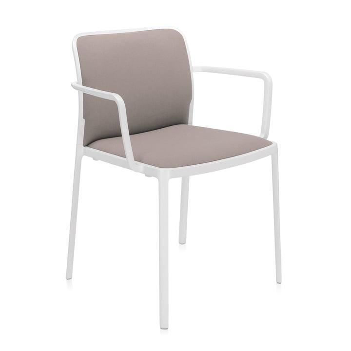 Audrey Soft Armchair from Kartell in white / beige