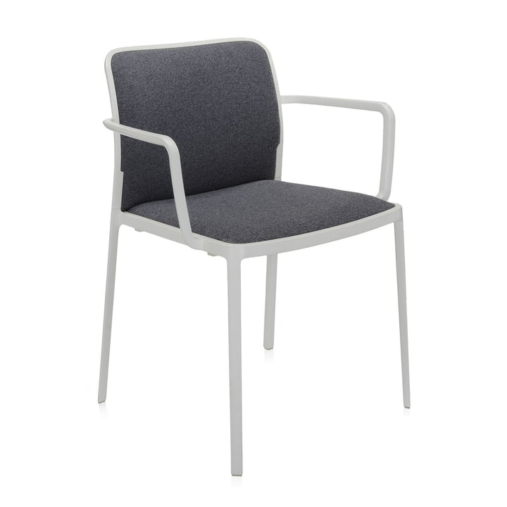 Audrey Soft Armchair from Kartell in white / grey