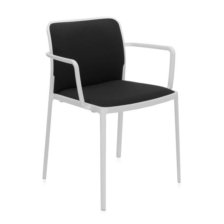 Audrey Soft Armchair from Kartell in white / black