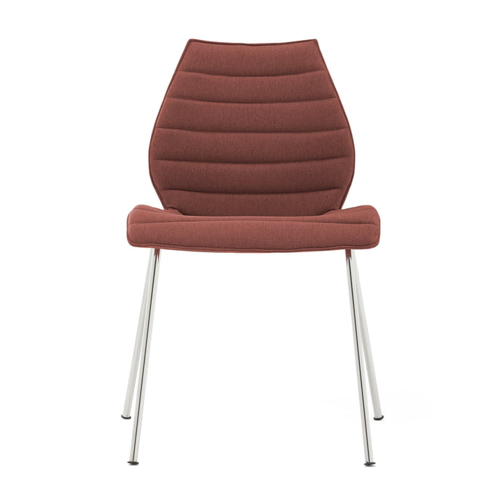 Maui Soft Chair from Kartell in Noma / brick red