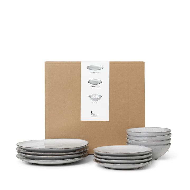 Nordic Sand Tableware Dinner -Set of Broste Copenhagen