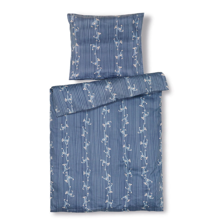 Monkey Baby bedding, 70 x 100 cm, blue from Kay Bojesen