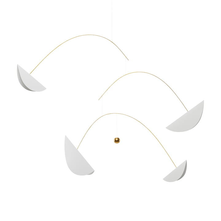 Life & Thread Mobile, white / gold from Flensted Mobiles