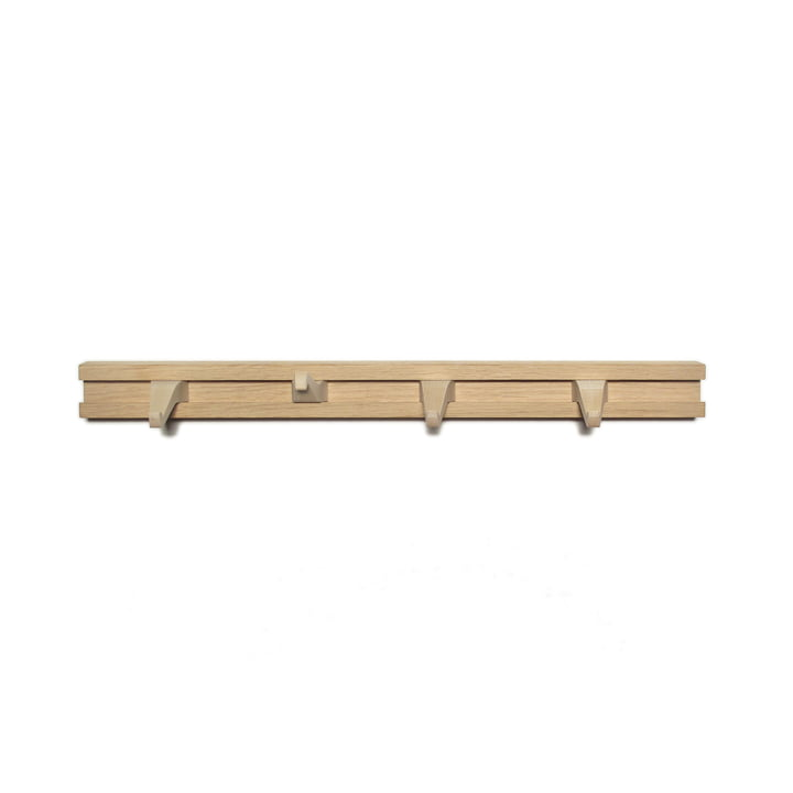 Anderl coat rack L 45 cm from side by side in oak / maple