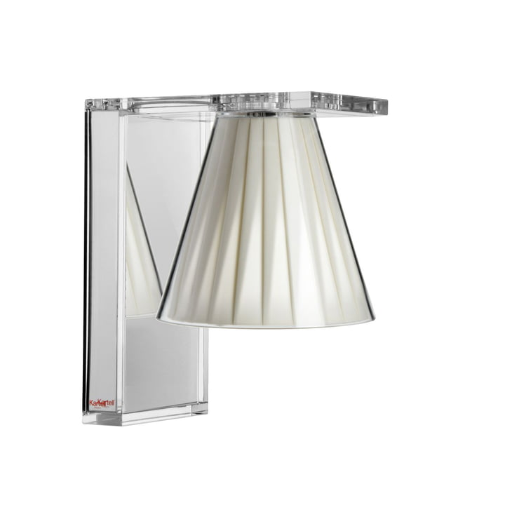 Light-Air wall lamp, crystal clear / beige by Kartell
