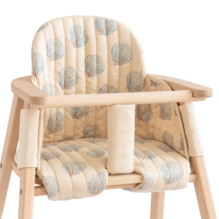Cushion for Growing Green high chair by Nobodinoz in blue gatsby / cream