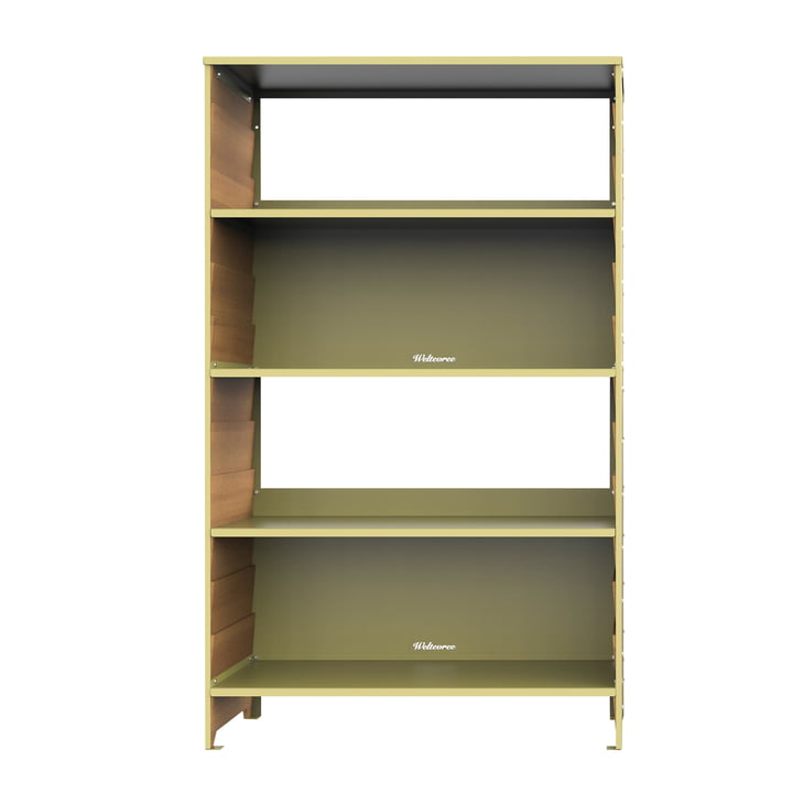 The Rabat shelf high from Weltevree in larch / green