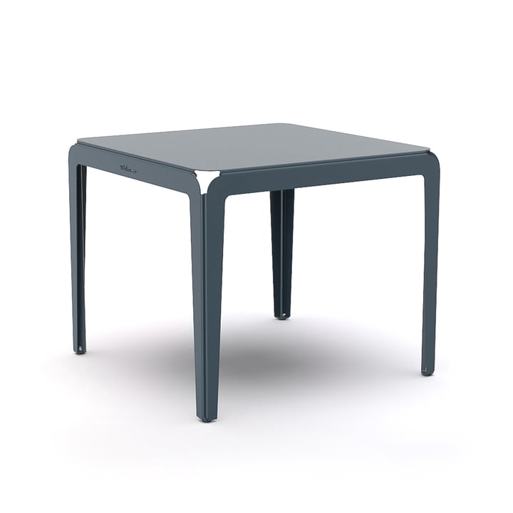 The Bended Table bistro table from Weltevree , 90 x 90 cm, grey-blue