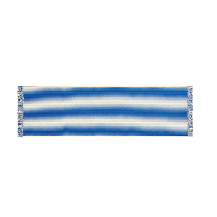 Stripes Carpet runner, 60 x 200 cm, bluebell ripple from Hay