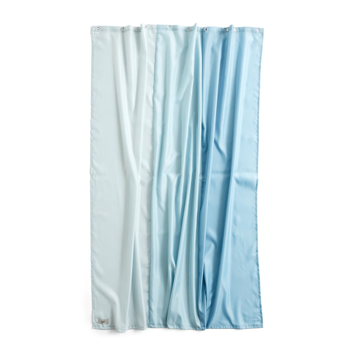 Aquarelle Shower curtain, 200 x 180 cm, vertical ice blue from Hay