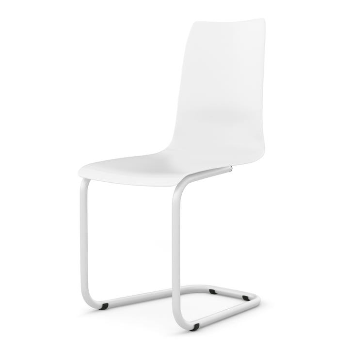 Cantilever chair from Tojo in white