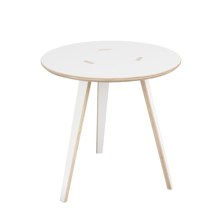 rund Side table Ø 40 cm from Tojo in white
