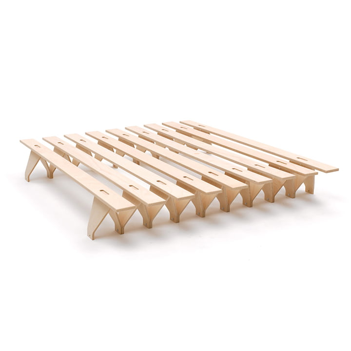 lieg Bed 180 x 195 cm from Tojo in beech nature