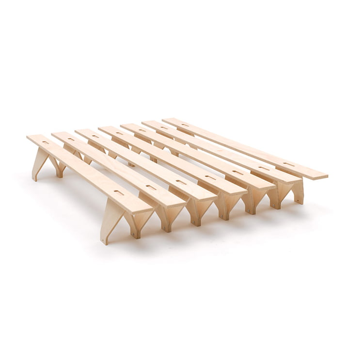 lieg Bed 140 x 195 cm from Tojo in beech nature