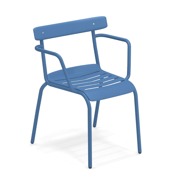 The Miky armchair from Emu in blue