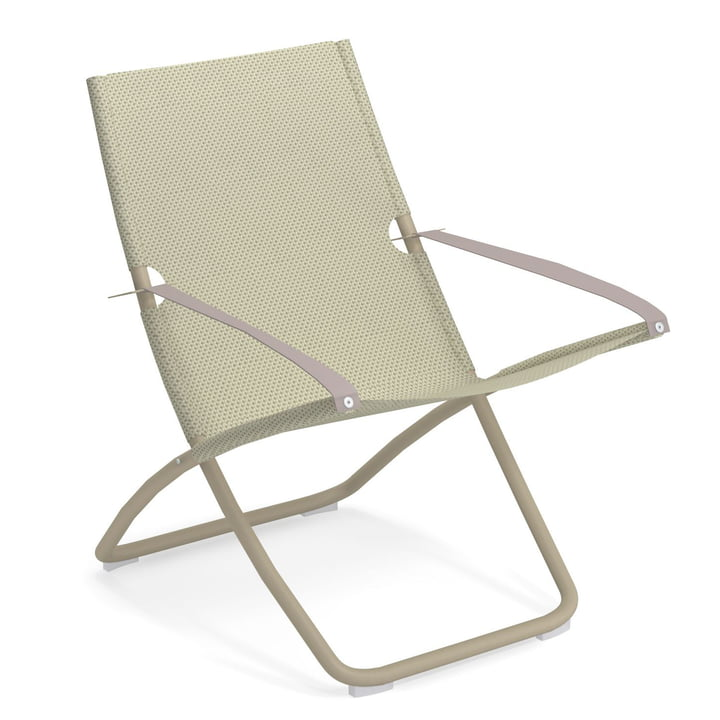 The Snooze Deckchair from Emu in taupe / beige