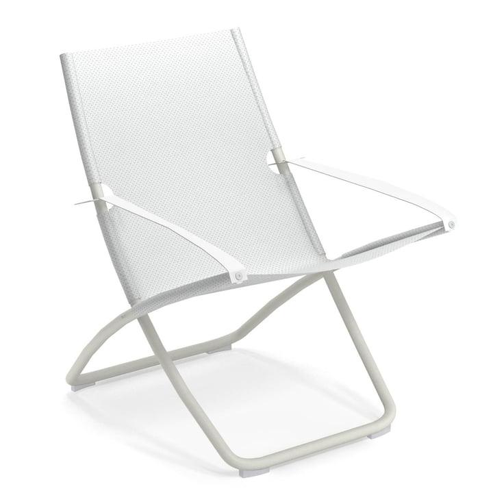 Emu - Snooze Deckchair, white / white