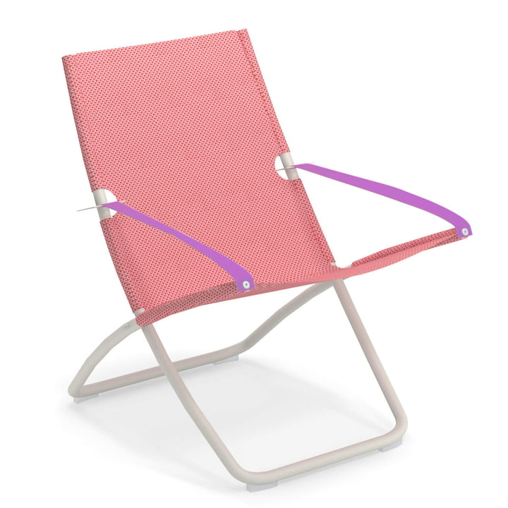 The Snooze deck chair from Emu in white / raspberry