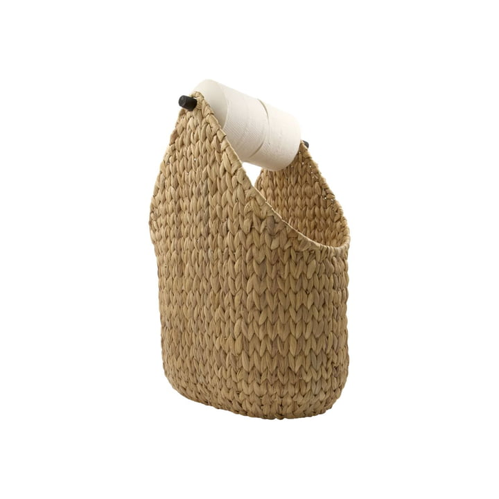 The toilet paper holder from House Doctor made of raffia wickerwork, nature